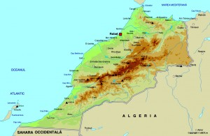 Morocco-physical-Map